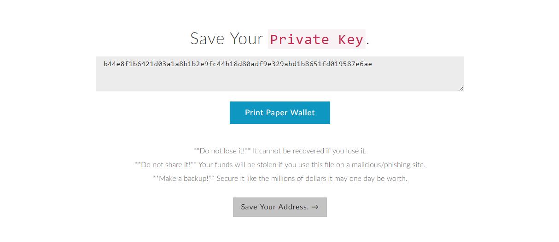 Paper Wallets für Ethereum Schritt 9