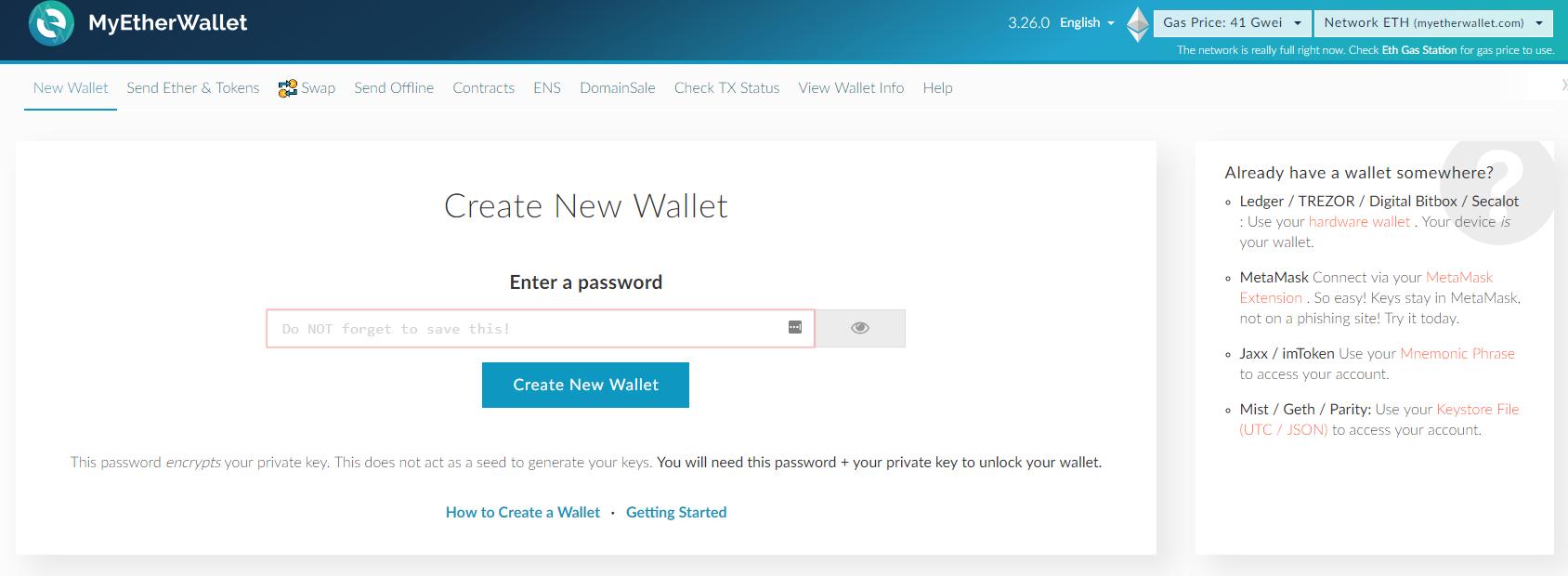 Paper Wallets für Ethereum Schritt 1